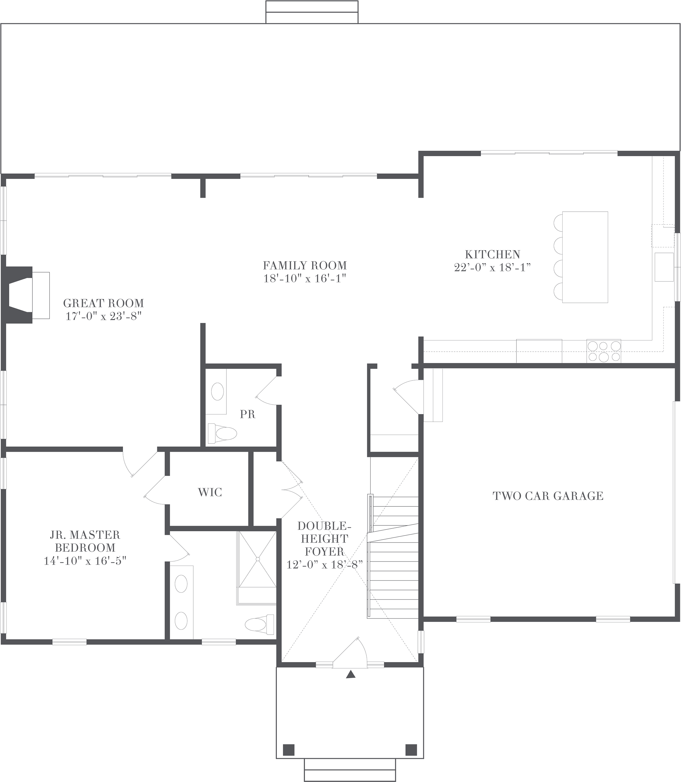 Cameron - Floorplan - Living and Entertaining Level