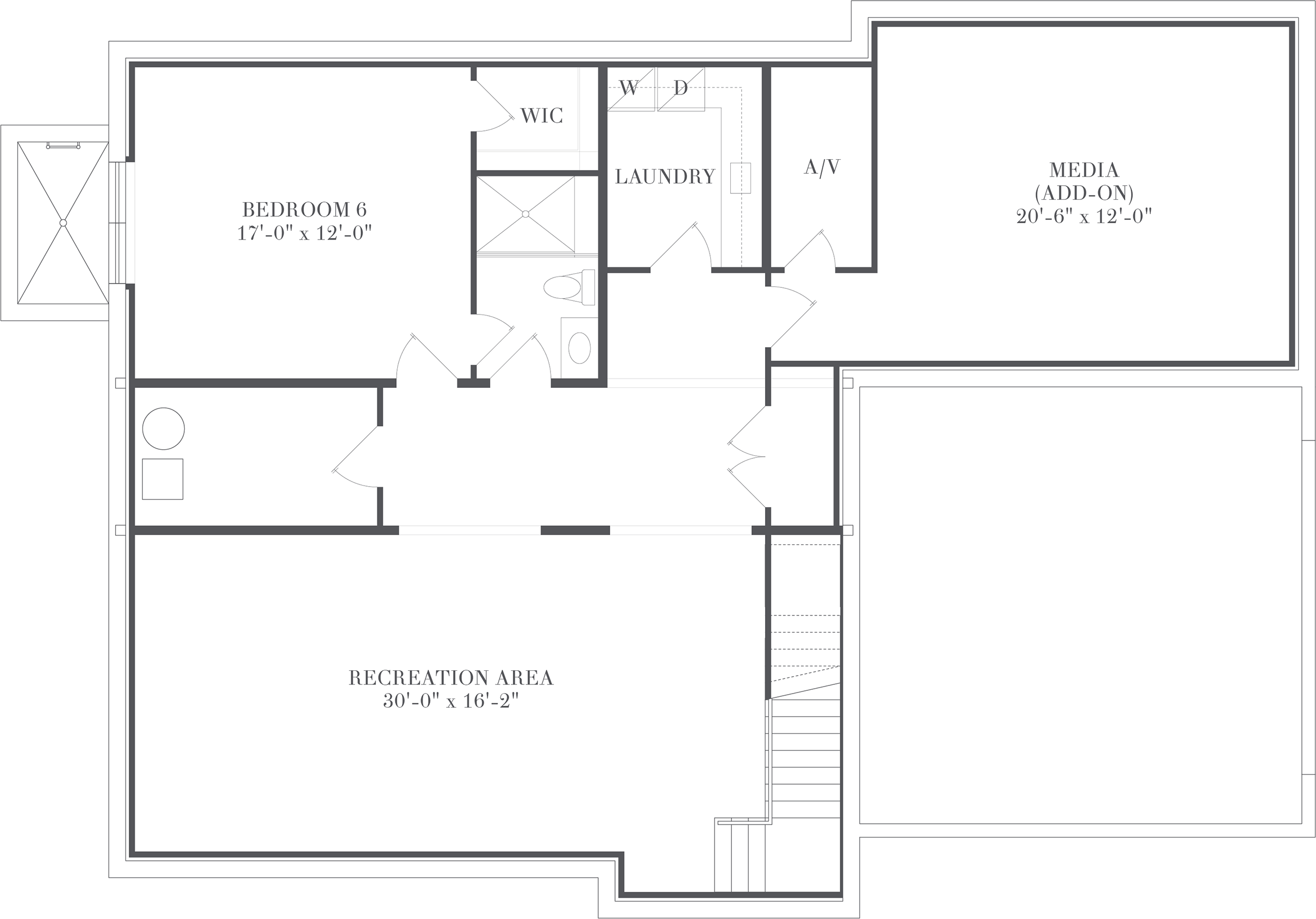 Cameron - Floorplan - Lower Recreation Level